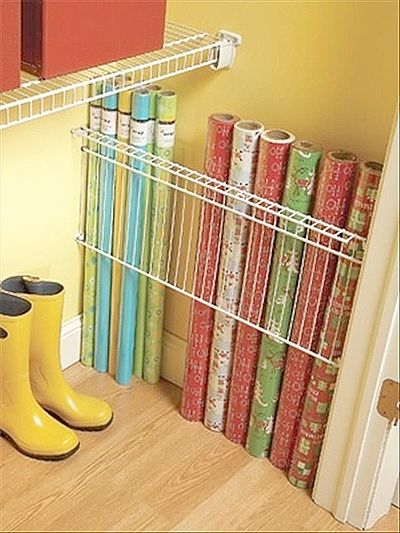 25 Simple Ways To Tackle The Messiest Chore Of The Holidays. Organizing Tips Storage OrganizationOrganisingWrapping Paper ...