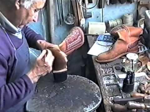 Artesano del Calzado - Elaboración de unos Botos Camperos Parte.1 - YouTube
