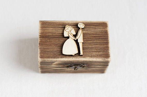 Wedding Ring Box, Wedding Box, Wooden Ring Bearer Box, Ring Bearer Pillow, Rustic Ring Box, Wedding Ring Holder, Romantic Wedding, Handmade