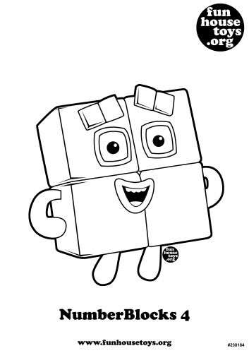 free 100 coloring pages for kids | Pin de Wilma Liem em Number blockbirthday | Atividades e ...