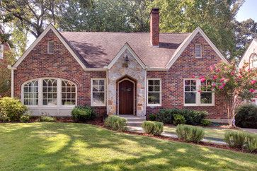 charming 1930's home with brick and stone highlights the front door : Maria Killam : 7 Steps to Choosing Brick and Stone for your Exterior