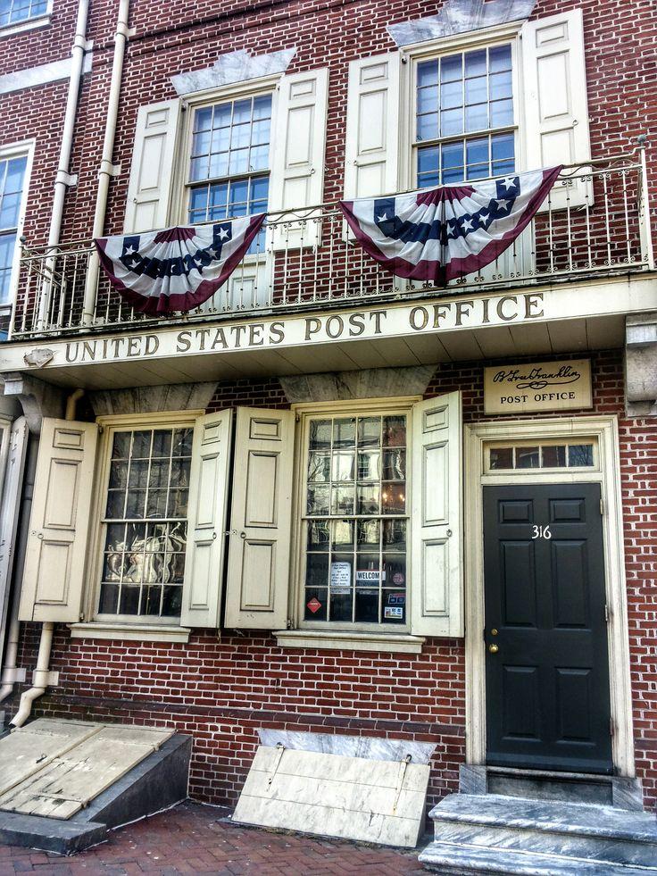 Benjamin Franklin post office in Philadelphia.