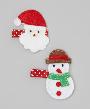 Take a look at this Santa & Snowman Clip Set by Snuggle Bug Kidz on #zulily today!