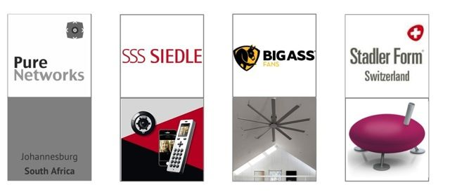 The brands that PureNetworks represents in South Africa . . . amazing design.  #purenetworks, #siedle, #bigassfans, #stadlerform, #southafrica
