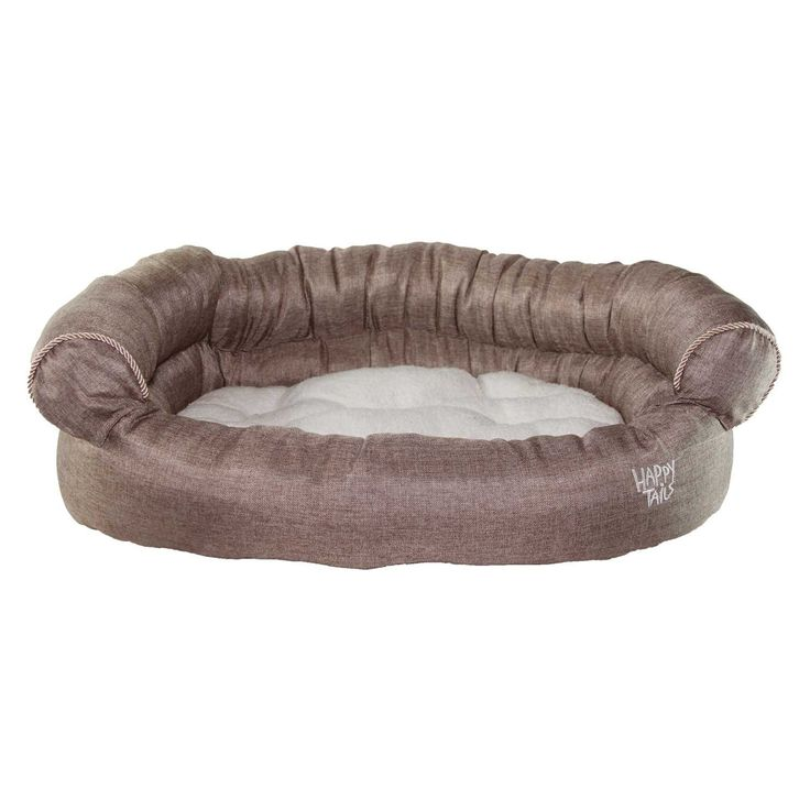 Happy Tails Faux Linen Sofa Bed For Pets, 36 By Chocolate Brown U003eu003eu003e New And  Awesome Cat Product Awaits You, Read It Now : Cat Beds