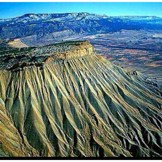 Book Cliff Mountains, Grand Junction, Colorado - went hiking here once.  Hot, but starkly beautiful!