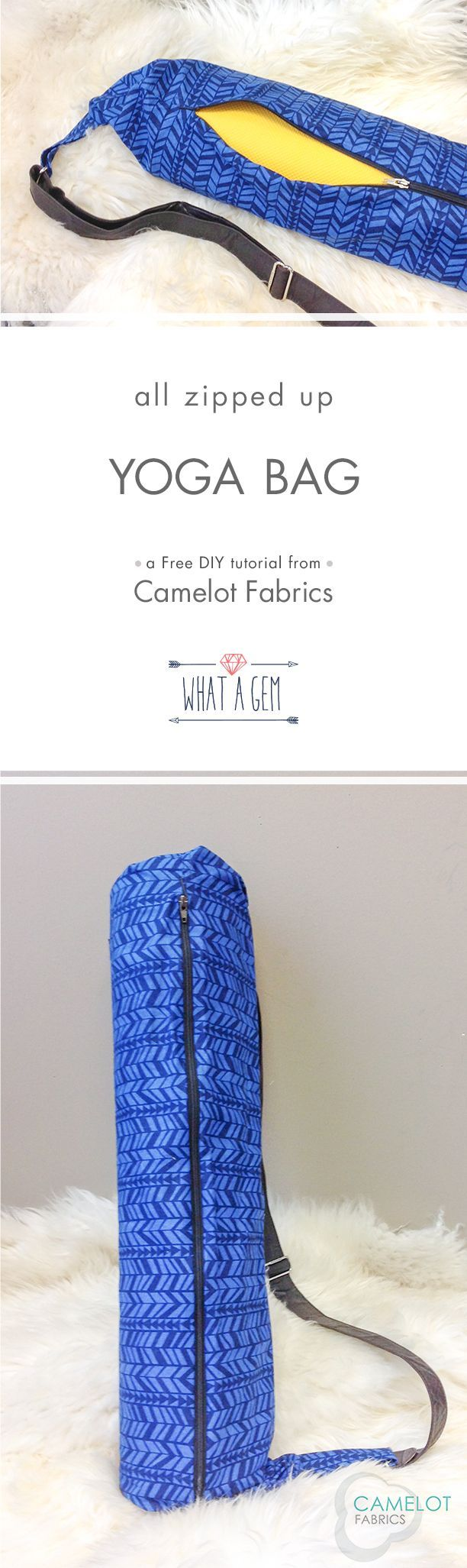 How To's Day   Yoga Bag Tutorial   What a Gem by Allison Cole for Camelot Fabrics