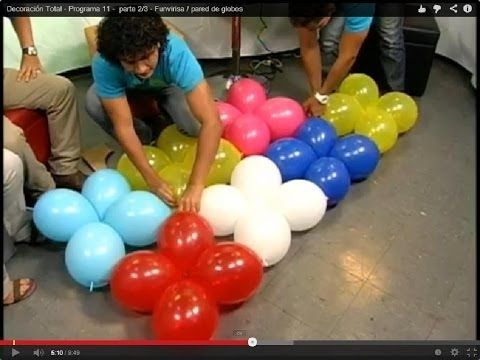 201 best decoraciones con globos images on pinterest - Decoraciones de paredes ...
