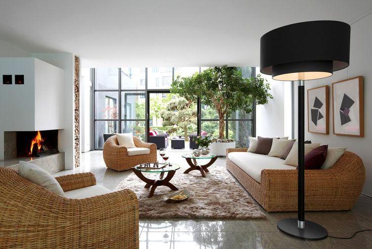 idee wohnzimmer einrichten rattan   Single Schlafzimmer ...