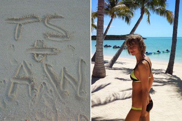 Calvin Harris and Taylor Swift Reach Peak Romance with Their Latest Beach Vacation Photos