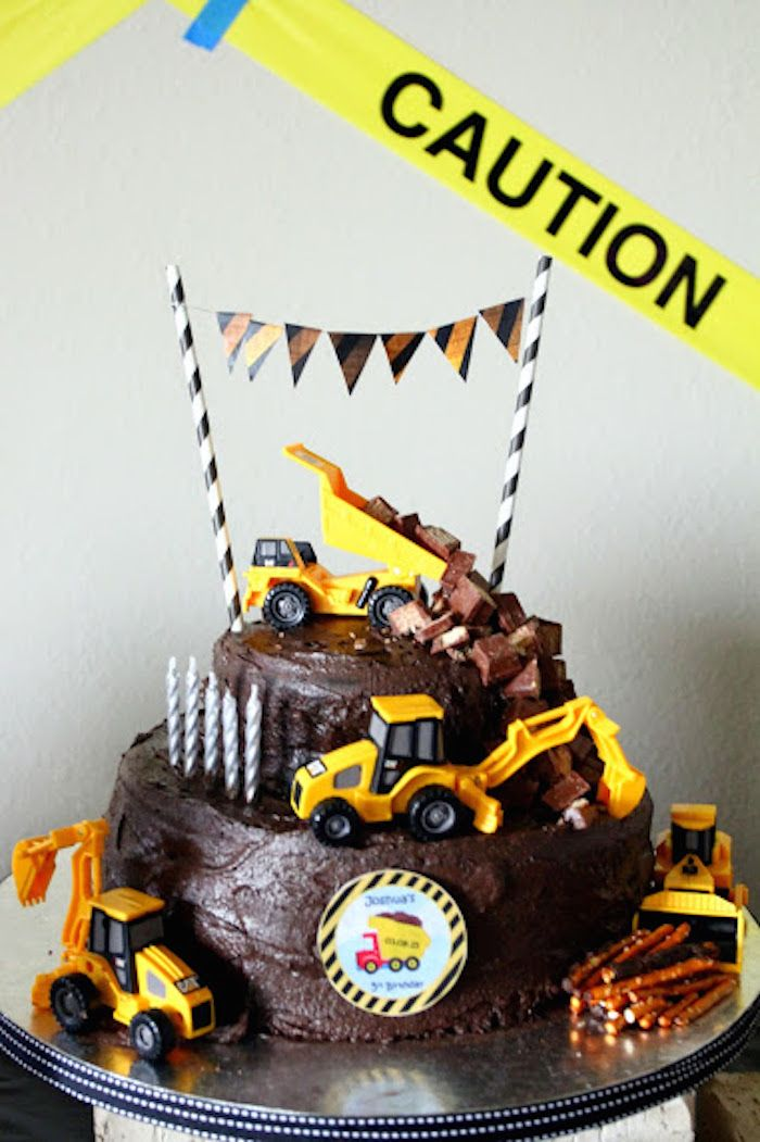 Kara's Party Ideas Construction Themed Fifth Birthday Party