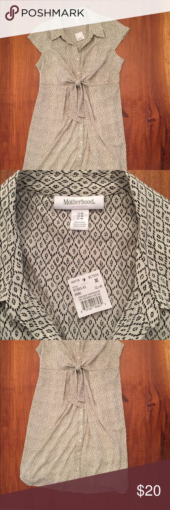 Maternity Work Dress Black and white patterned maternity dress. Lined and perfect for work. New with tags. Motherhood Maternity Dresses
