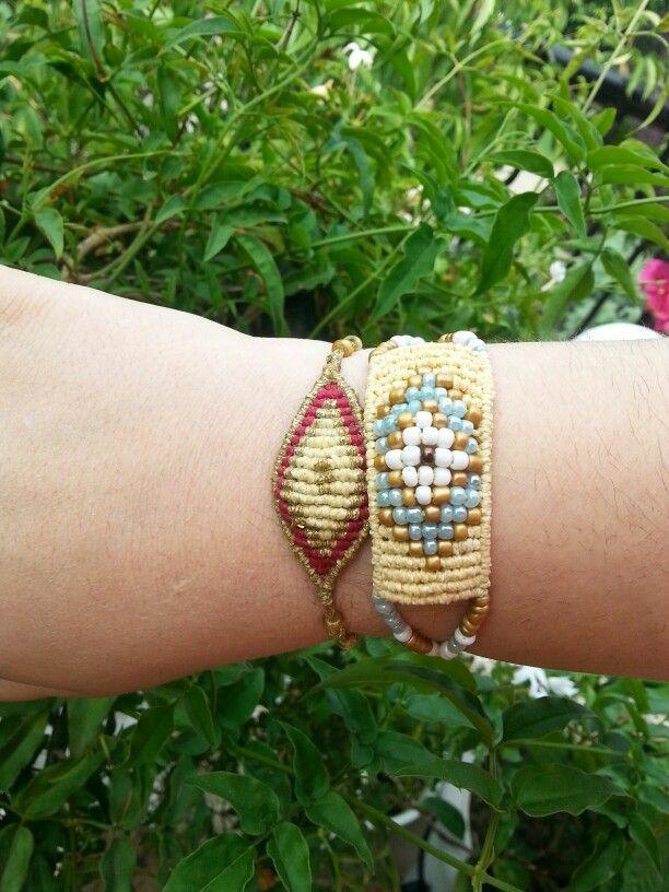 Macrame evil eye bracelets