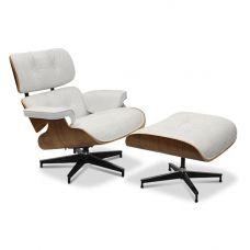 Eames Chair & Stool White Replica