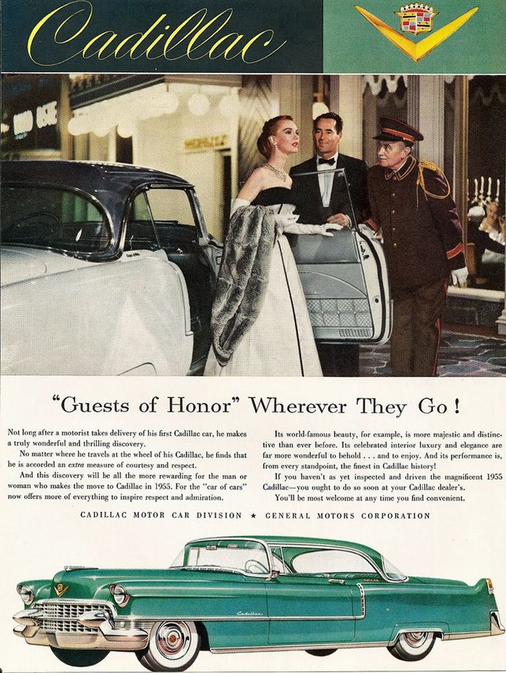 19 best 1955 Cadillac Ads images on Pinterest | Vintage cars ...