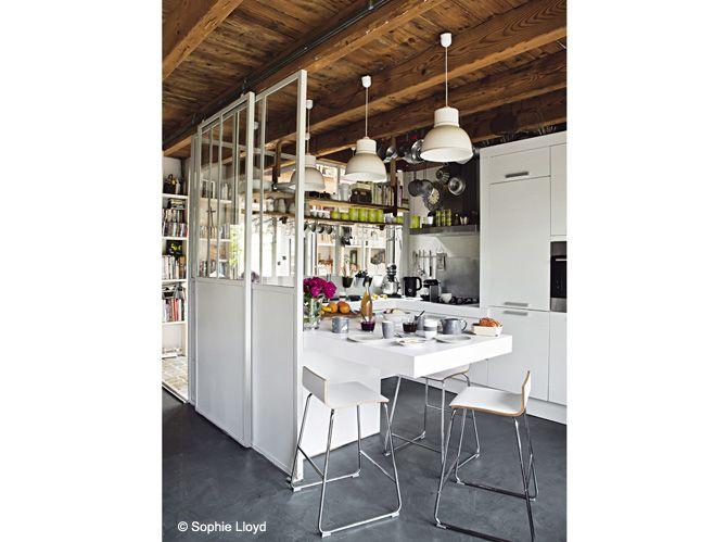 17 meilleures images propos de cuisines semi ouvertes for Cuisine vitree atelier