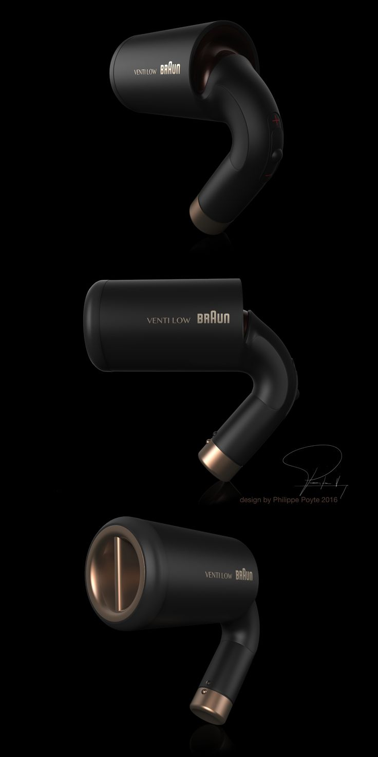 Hair dryer for Braun : design by Philippe Poyte 2016.