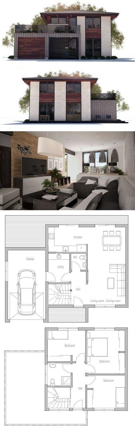 Oltre 25 fantastiche idee su case piccole moderne su for Planimetrie di casa molto piccole