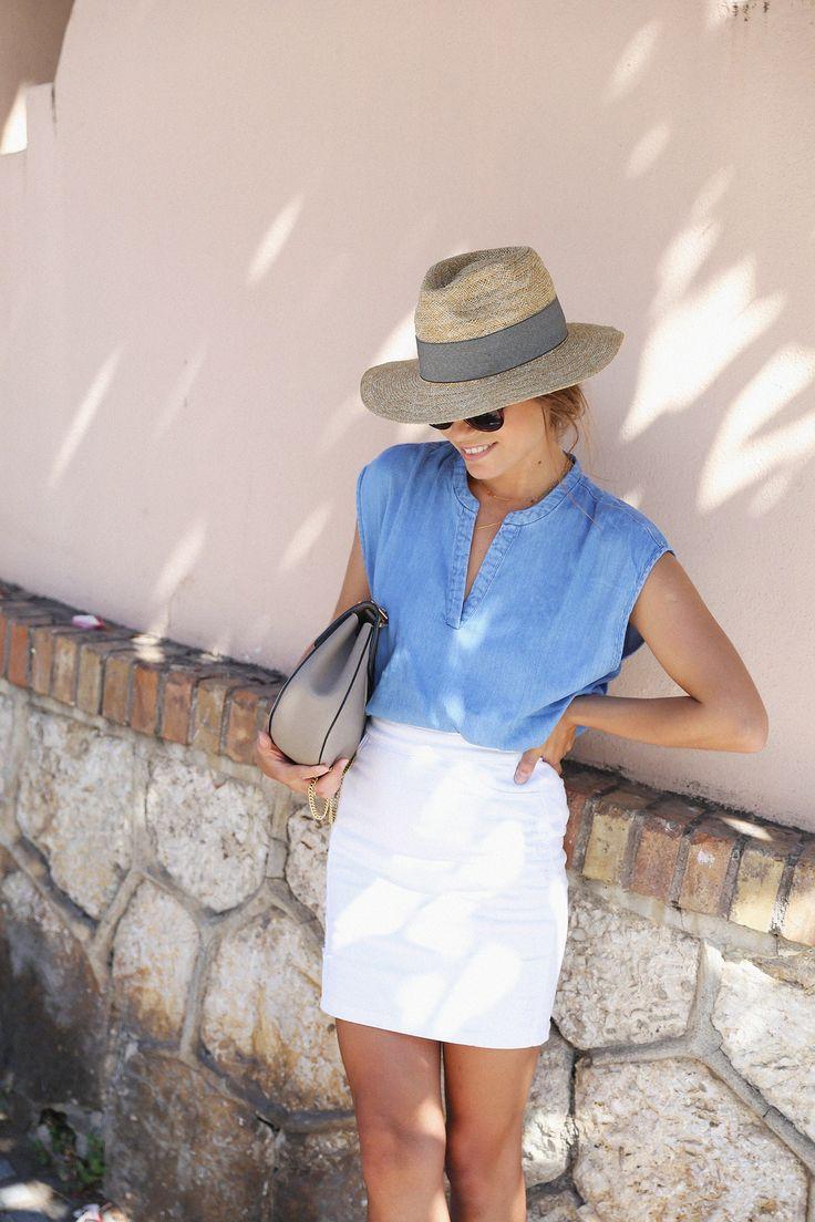 Blue denim top | seams for a desire