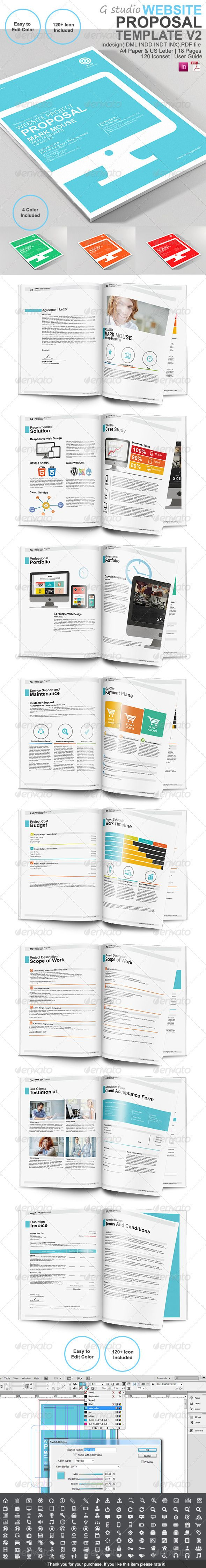 Gstudio Website Proposal Template V2 by terusawa Live Preview Proposal template design is easy Customize or change color