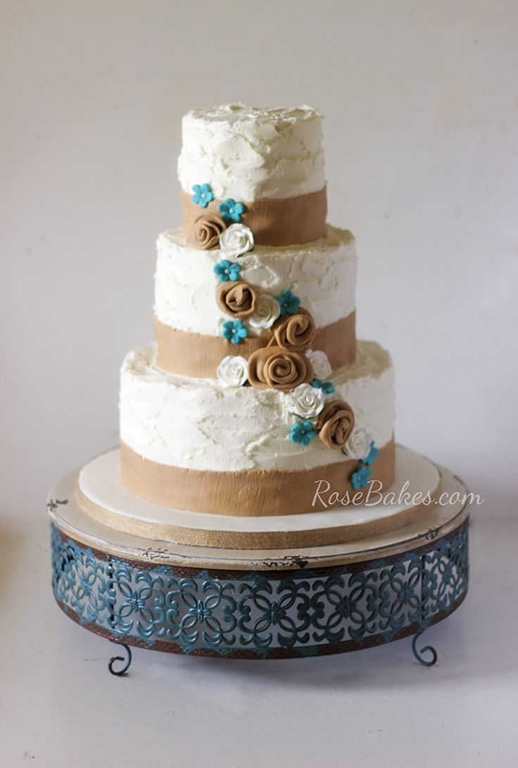 Turquoise Themed Wedding Cakes