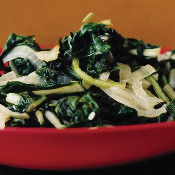 Italians are crazy for dark leafy greens of all kinds, and Swiss chard is a particular favorite in the fall. Here, with stems and ribs included, you get the full earthy spectrum of the vegetable.