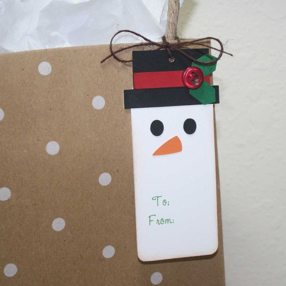 Snowman gift tags Christmas gift tags Frosty by JillyBearDesigns, $9.00