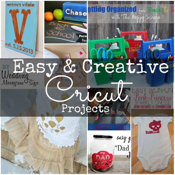 This huge round up of over thirty Cricut projects is a definite post to pin! Lots of fun and easy projects using your favorite cutting machine via www.waittilyourfathergetshome.com #Cricut