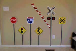 Miniature Traffic Signs - Unique Metal High-Quality Replica Traffic Signs