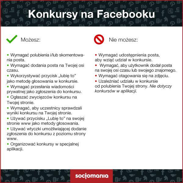 Co można a czego nie można w zakresie konkursów na Facebooku? #socjotips #konkursynaFacebooku