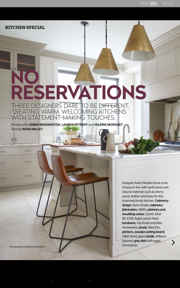 Prime Photos House And Home Magazine Family Kitchen Cherry Wood