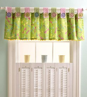 Shutters below & simple valance on top. I like the idea of light or privacy! BTW ~ this pin is for ideas for uses for buttons!