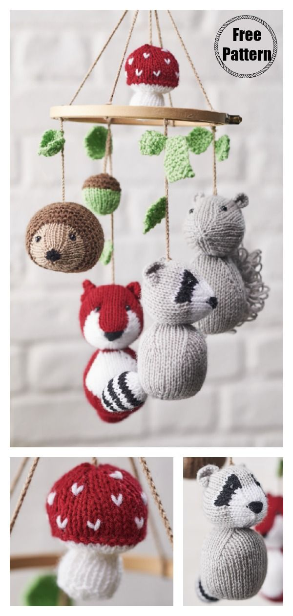 knitting baby mobile