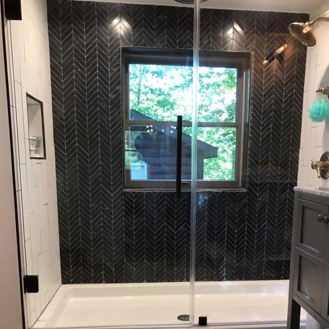 noir honed chevron travertine mosaic