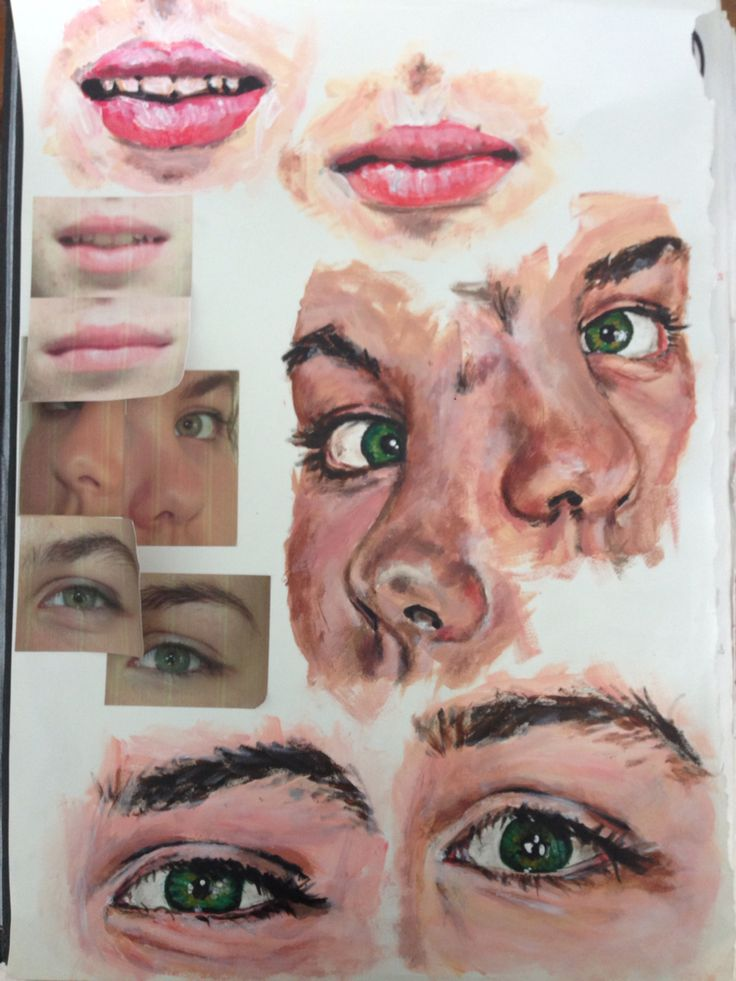 Sketchbook design 'Differences in the Detail', A Level Art, by Amelia Preston #acrylic #design #twins