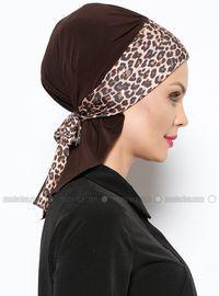 Arya Instant Shawl - Brown Leopard - Vera Bone