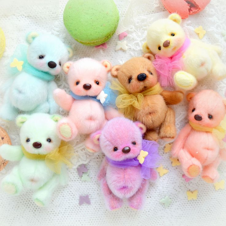Купить Полли (7см) - коралловый, оранжевый, персиковый, абрикосовый, мишка тедди, медвежонок, мишка-тедди