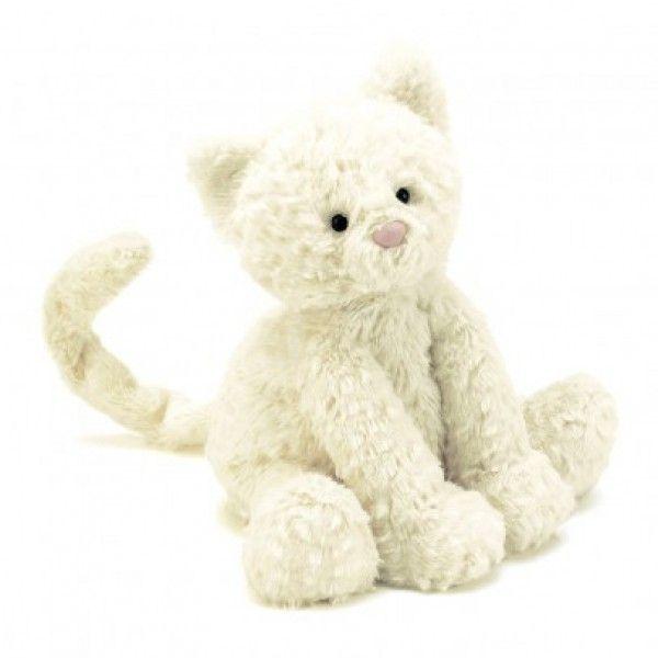 Kleine Katze Fuddlewuddle (Weiß)/ Small Stuffed Kitty Fuddlewuddle  Wir lieben Katzen! Dieses Kuscheltier von Jellycat ist ein perfektes Spielzeug für Mädchen und Jungen. Geschenkidee für Kindergeburtstag und Weihnachten !  ♡♡♡  This little Kitty Cuddly / Stuffed Toy is just waaay too cute for kids (for girls AND boys)! It's a perfect birthday or Christmas gift for your small ones! - Mami and Me
