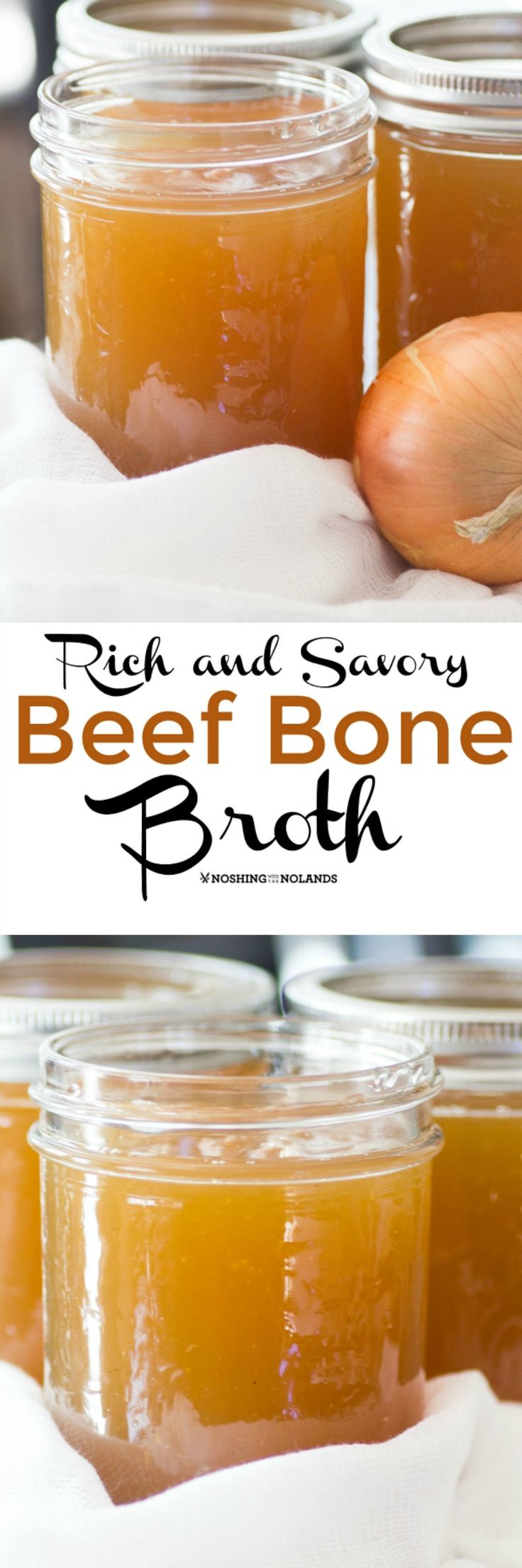 Rich and Savory Beef Bone Broth by Noshing With The Nolands will warm and nourish you from the inside out.
