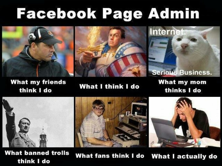 Funny Meme Facebook Pages : Facebook page admin lol pinterest