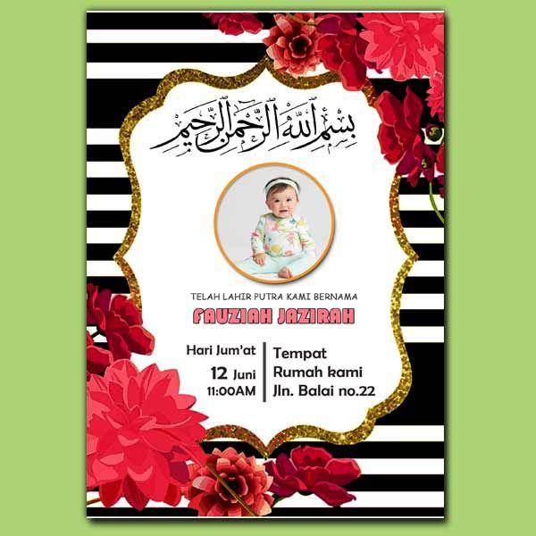 Download Template Undangan Aqiqah Format Photoshop Gratis