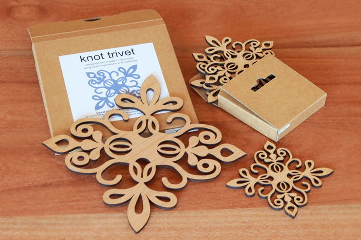 Gift Bundle: Knot Trivet & Matching Coasters BUY ONLINE | Australian Woodwork