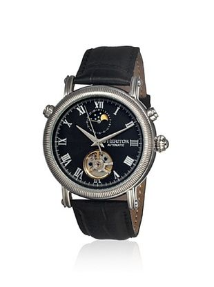80% OFF Heritor Men's HERHR1602 Kornberg Black Stainless Steel Watch