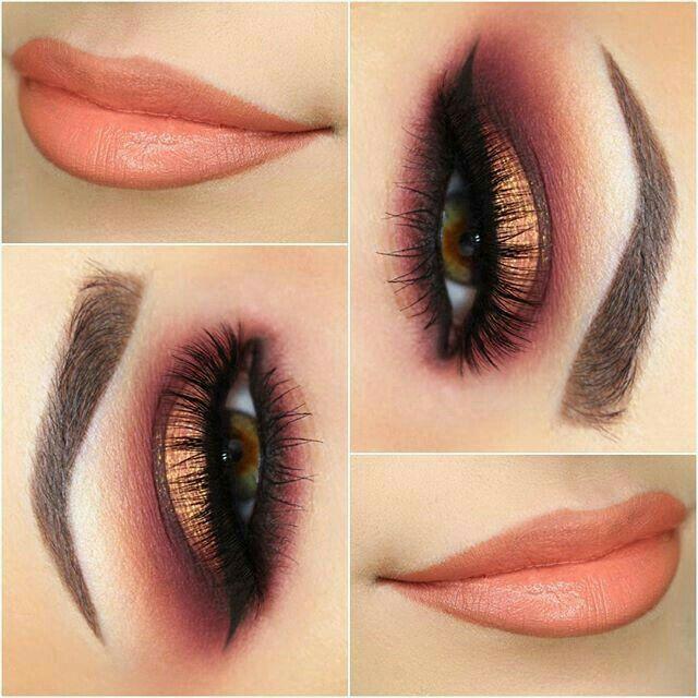 maquillaje para los ojos en una noche de verano