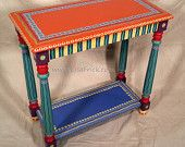 Hand Painted Furniture Wild and Crazy Custom Made to by LisaFrick