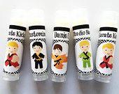 Karate Party Favors Lip Balm - Set of 5 - Boy Karate Party Favors - Party Favors - Boy Birthday - Karate Chapstick Favor - Karate Gift Bags