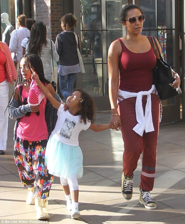 Dedicated mother: Mel B showed that she's equally at home spending some quality time with ...