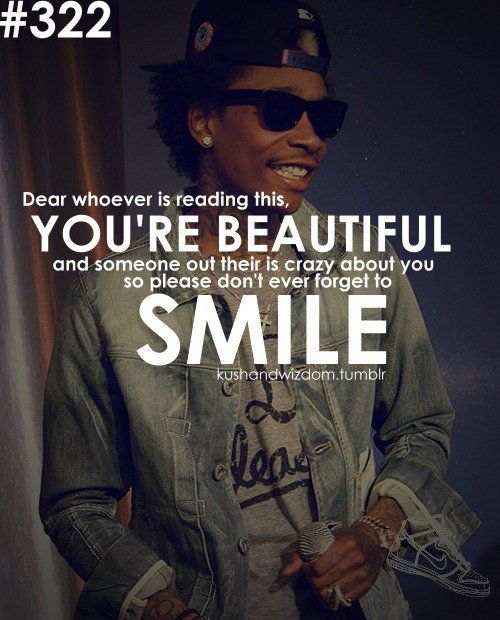 pictures of wiz khalifa smiling | your beautiful | Tumblr