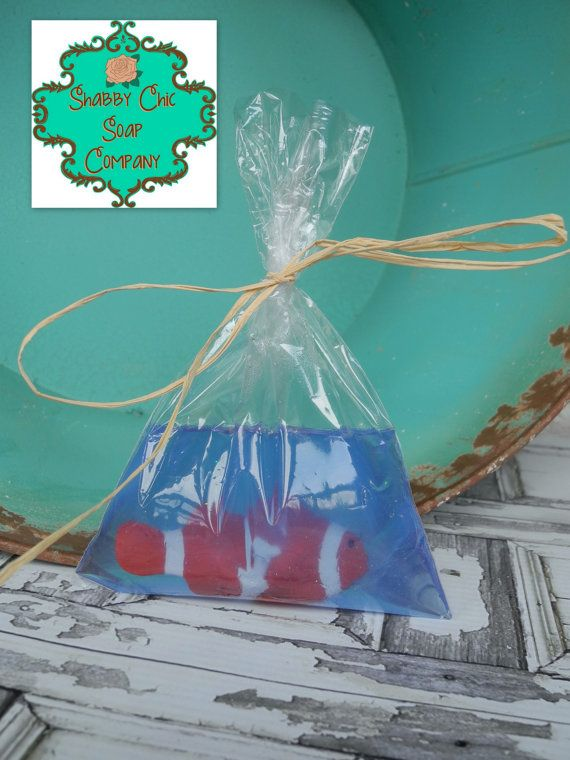 Fish in a Bag soap Party Favor Pack Birthday by ShabbyChicSoapCo