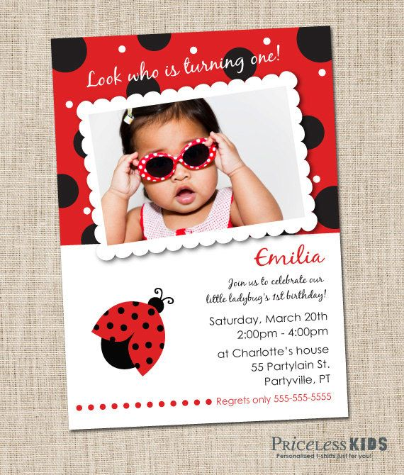Best 25 Ladybug birthday invitations ideas – Ladybug Invitations 1st Birthday